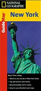 New York State Road and Physical Tourist Guide map.
