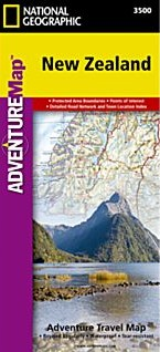 New Zealand Adventure Road and Tourist Map.