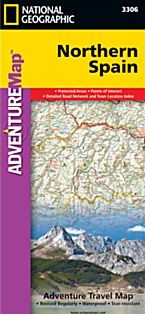 Northern Spain Adventure Road and Tourist Map.