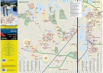 """ORLANDO """"Destination"""" map Florida, America."""