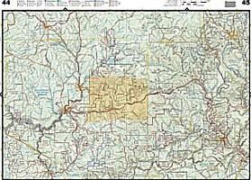Pennsylvania Recreation Road and Tourist ATLAS, America.