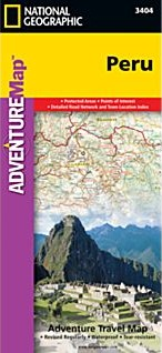Peru Adventure Road and Tourist Map.