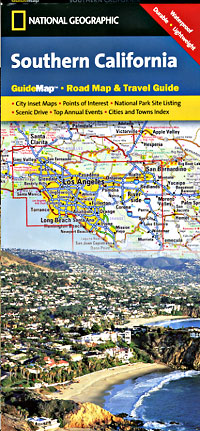 California Southern Road and Physical Tourist Guide map.
