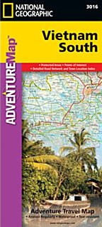 Vietnam South Adventure, Road and Tourist Map.