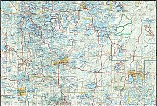Wisconsin Recreation Road and Tourist ATLAS, America.