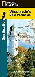 Wisconsin's Door Peninsula Destination Road and Recreation Map.