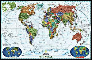 World Political Decorator WALL Map.