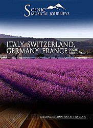Switzerland, Italy, Germany, France Night Music Vol. 1 - Travel Video.