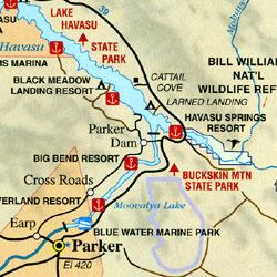 Laughlin and Bullhead City, Nevada and Arizona, America.