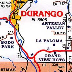 Durango and Farmington, Colorado, America.