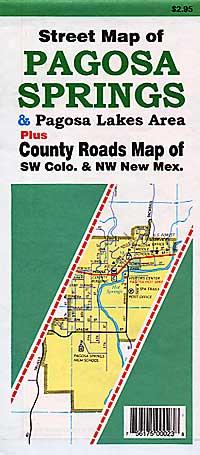 Pagosa Springs and Pagoso Lakes Area , Colorado, America.