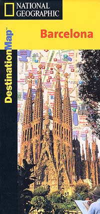 "BARCELONA ""Destination"" Map, Catalonia, Spain."