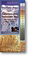 Cordillera Real de los Andes, Road and Trekking Map, Bolivia.