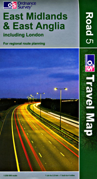 East Midlands & East Anglia #5 Regional Road Map.