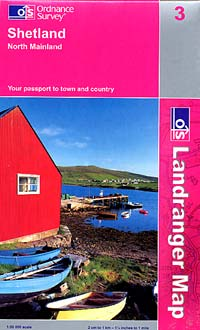 Shetland Islands: North Mainland Sectional Map #3.