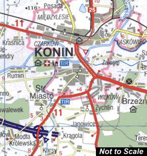 Poland Tourist Road ATLAS.