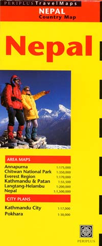 Nepal Road and Tourist Map.