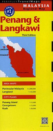 Penang and Langkawi Island, Road and Tourist Map, Malaysia.