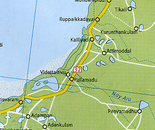 Sri Lanka, Road and Shaded Relief Tourist Map.