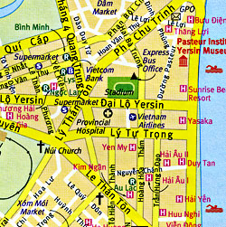 Vietnam Road and Tourist Map.