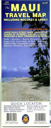 Maui Road and Tourist Map, Hawaii, America.