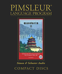Pimsleur Mandarin Chinese Comprehensive Audio CD Language Course, Level 2.