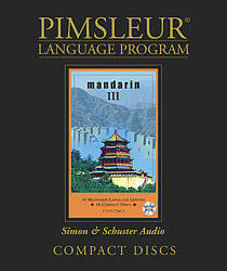 Pimsleur Mandarin Chinese Comprehensive Audio CD Language Course, Level 3.