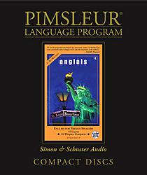 Pimsleur English For French Speakers, Audio CD Language Course.