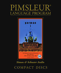 Pimsleur German Comprehensive Audio CD Language Course, Level 1.