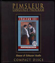 Pimsleur Italian Comprehensive Audio CD Language Course, Level 3.