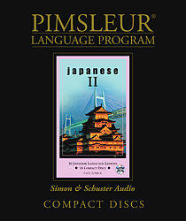 Pimsleur Japanese Comprehensive Audio CD Language Course, Level 2.