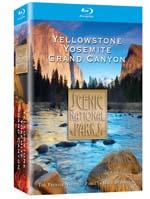 Scenic National Parks - Yellowstone, Grand Canyon, Yosemite - Blu-ray Disc.