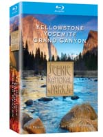 Scenic National Parks - Yellowstone, Grand Canyon, Yosemite - Blu-ray DVD.