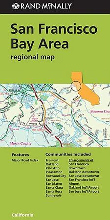 San Francisco Bay Area Regional Road and Highways Map, California, America.