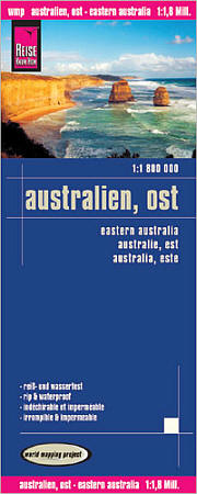 Australia East Road and Topographic Tourist Map.