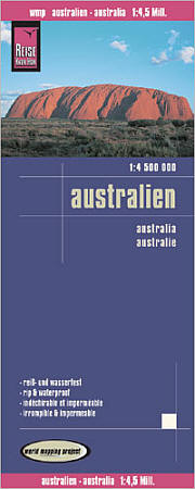 Australia Road and Topographic Tourist Map.