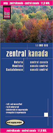 Canada, Central, Road and Topographic Tourist Map.