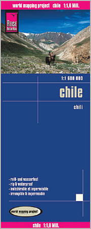 Chile Road and Topographic Tourist Map.
