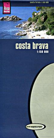 Costa Brava Road and Topographic Tourist Map.