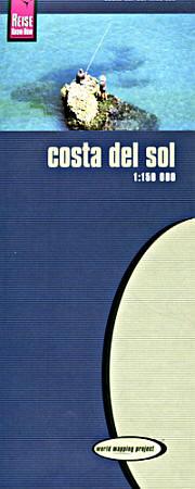 Costa del Sol Road and Topographic Tourist Map.