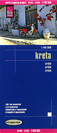 Crete Road and Topographic Tourist Map.