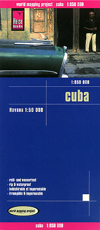 Cuba Road and Topographic Tourist Map.