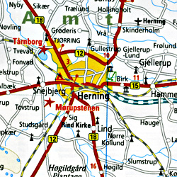 Denmark Road and Topographic Tourist Map.