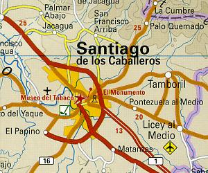 Dominican Republic and Haiti Road and Topographic Tourist Map.