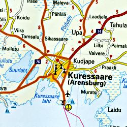 Estonia Road and Topographic Tourist Map.