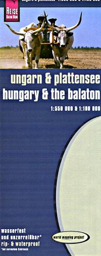 Hungary and Lake Balaton Road and Topographic Tourist Map.
