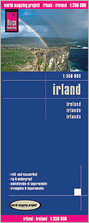 Ireland Road and Topographic Tourist Map.
