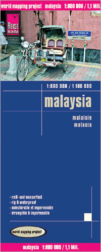 Malaysia Road and Topographic Tourist Map.