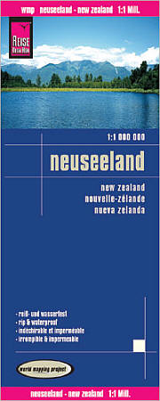 New Zealand Road and Topographic Tourist Map.