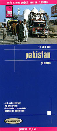 Pakistan Road and Topographic Tourist Map.